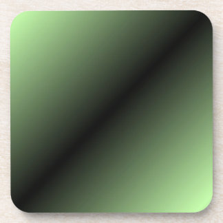 Green and Black Stripe Coaster