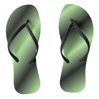 Green and Black Stripe Flip Flops