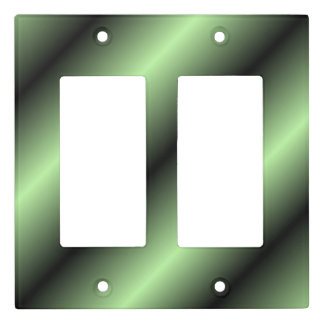 Green and Black Stripe Light Switch Cover