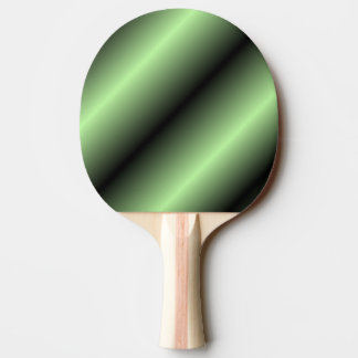 Green and Black Stripe Ping Pong Paddle