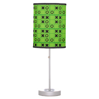 Green and Black Tic Tac Toe Table Lamp