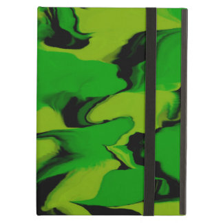 Green and Black Wavy Cover For iPad Air