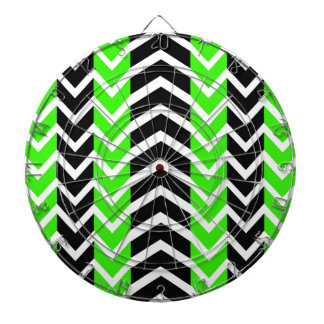 Green and Black Whale Chevron Dartboard
