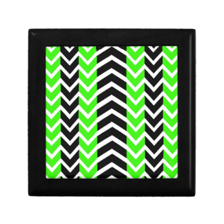 Green and Black Whale Chevron Gift Box