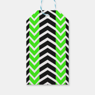 Green and Black Whale Chevron Gift Tags