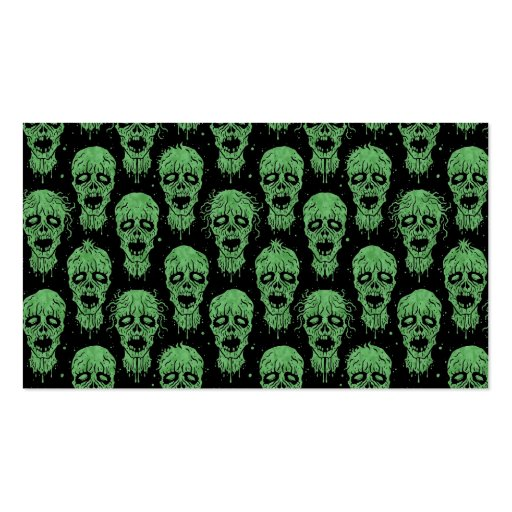 Green and Black Zombie Apocalypse Pattern Business Cards