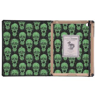 Green and Black Zombie Apocalypse Pattern iPad Cases