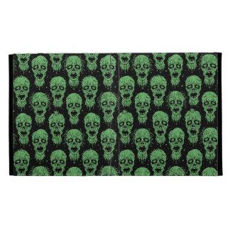 Green and Black Zombie Apocalypse Pattern iPad Folio Cases