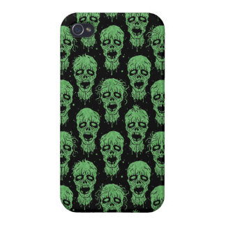Green and Black Zombie Apocalypse Pattern iPhone 4/4S Covers
