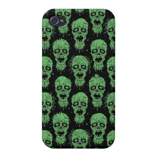 Green and Black Zombie Apocalypse Pattern Cases For iPhone 4