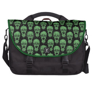 Green and Black Zombie Apocalypse Pattern Commuter Bags