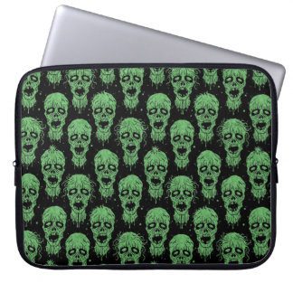 Green and Black Zombie Apocalypse Pattern Laptop Sleeves