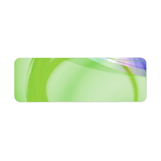 Green and Blue Abstract Design Return Address Label