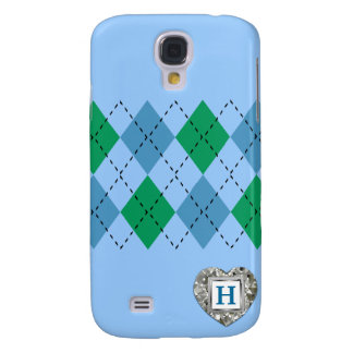 Green And Blue Argyle iPhone3 Case