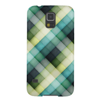 Green and Blue Blocks Galaxy S5 Cover