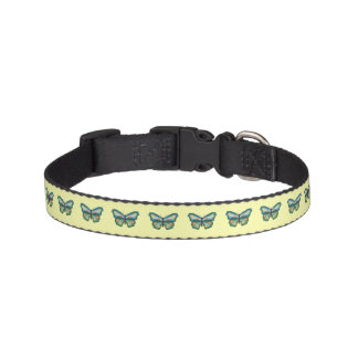 Green and Blue Butterfly Pet Collar