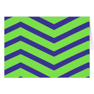 Green and Blue Chevron Card