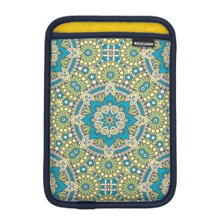 Green and Blue Floral Mandala iPad Mini Sleeve