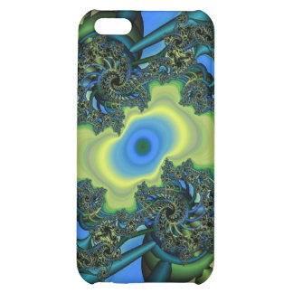 green and blue fractal iPhone 5C cover