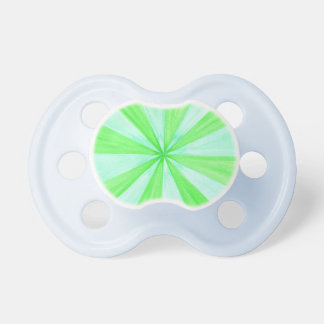 Green and Blue Geometric Spokes Baby Pacifiers