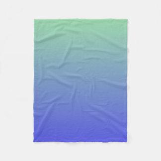 Green and Blue Gradient Colors Fleece Blanket
