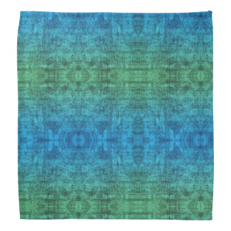 Green And Blue Gradient Texture Pattern Bandana