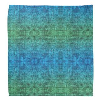 Green And Blue Gradient Texture Pattern Bandana