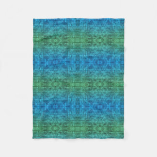 Green And Blue Gradient Texture Pattern Fleece Blanket