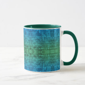 Green And Blue Gradient Texture Pattern Mug