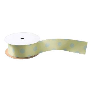 green and blue/green polka dot satin ribbon
