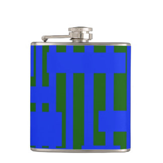Green and Blue Hip Flask