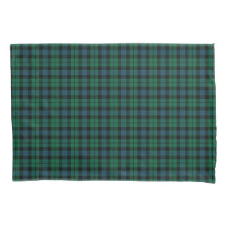 Green and Blue MacKay Clan Scottish Tartan Pillowcase