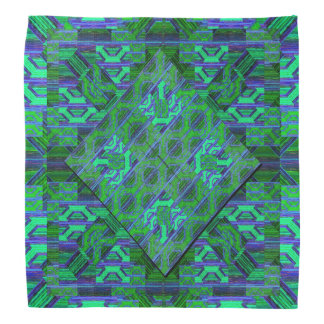 Green and Blue Pattern Bandana