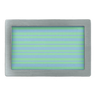Green and Blue Pinstripe Belt Buckle