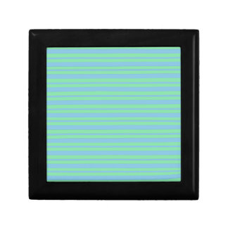 Green and Blue Pinstripe Gift Box