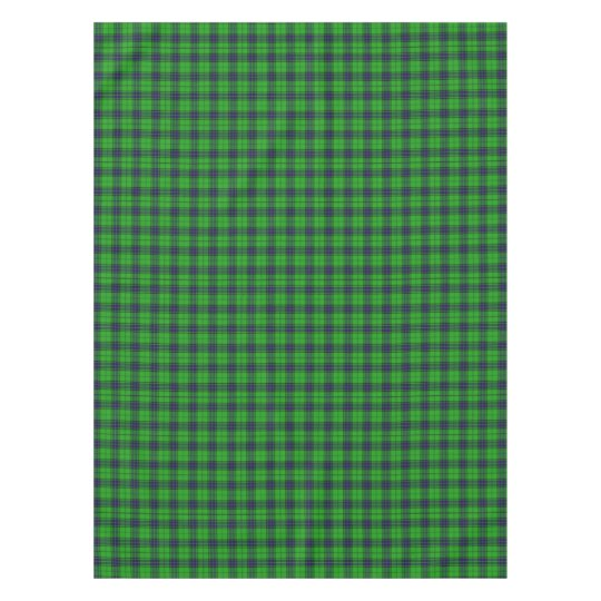 Green and Blue Plaid Tablecloth