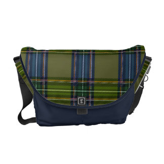 Green and blue Scottish tartan Commuter Bags