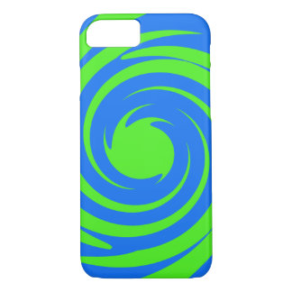 Green and blue swirl iPhone 8/7 case