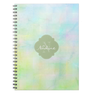 Green and blue watercolor notebooks