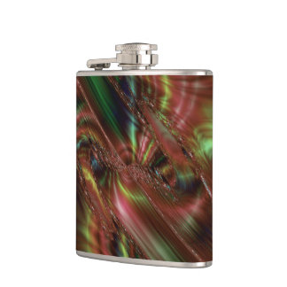 Green and Brown Abstract Flask