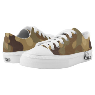 Green  and Brown Camouflage. Camo your Low-Top Sneakers