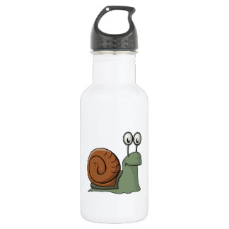 Green and Brown Cartoon Snail 532 Ml Water Bottle