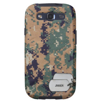 Green and Brown Digitral  Military Camouflage Galaxy SIII Covers