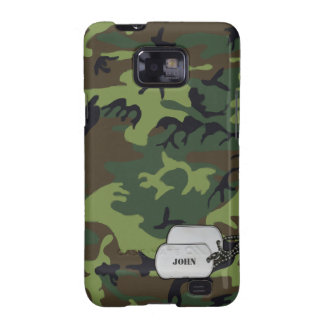 Green and Brown Jungle Military Camouflage Galaxy SII Cases