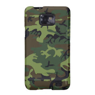 Green and Brown Jungle Military Camouflage Samsung Galaxy SII Case