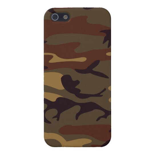 Green and Brown Military Camo Case For iPhone 5/5S