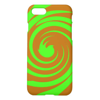 Green and brown swirl iPhone 8/7 case