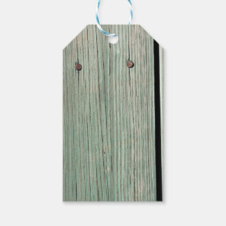 Green and Brown Wood Plank Walkway Gift Tags