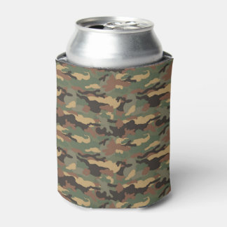 Green and Browns Tree Bark, Sportsmen Can Cooler