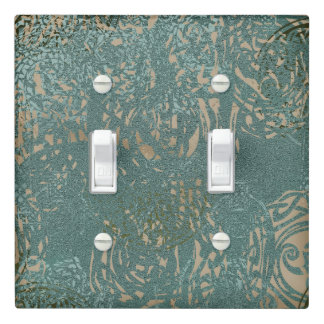 Green and Cream Celtic Design   Light Switch Cover